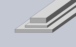 Aluminium plattstång